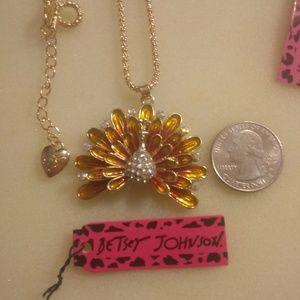 Betsey Johnson Turkey Necklace